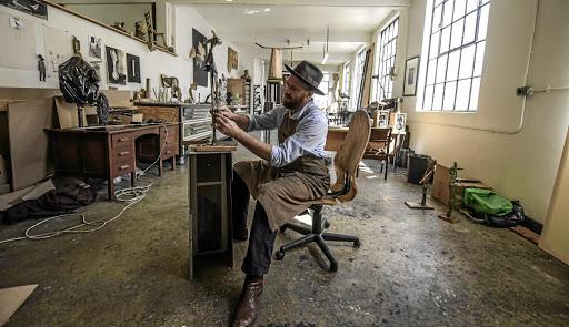 Foundry's Louis Olivier has left his prints on Kentridge sculptures