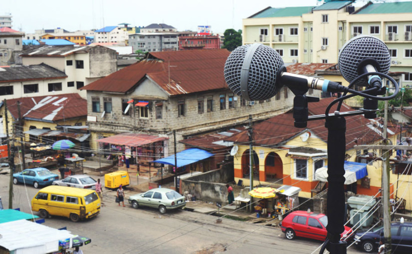 Emeka Ogboh, Recording in Yaba, Lagos. Photo by Emeka Ogboh, courtesy of The Armory Show.